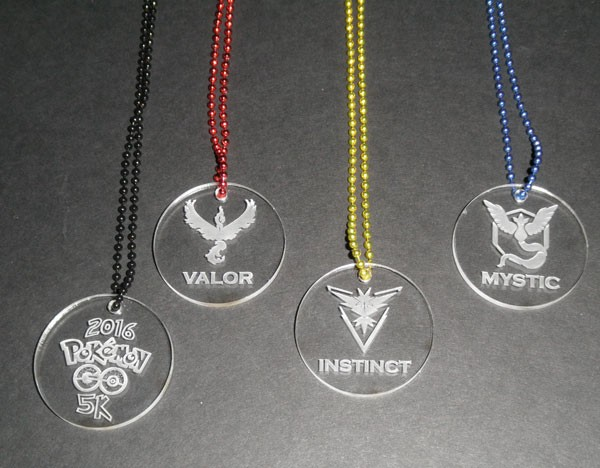 Acrylic necklaces acrylic pendants acrylic key chains acrylic pokemon go team harmony team valor team instinct clear acrylic pendants aloadofball Gallery